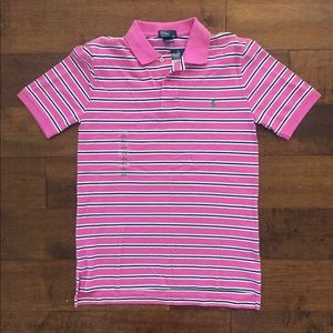 Polo Ralph Lauren pink stripe preppy top L 14-16